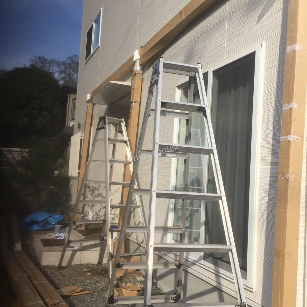 屋根付きリビングウッドデッキ施工例